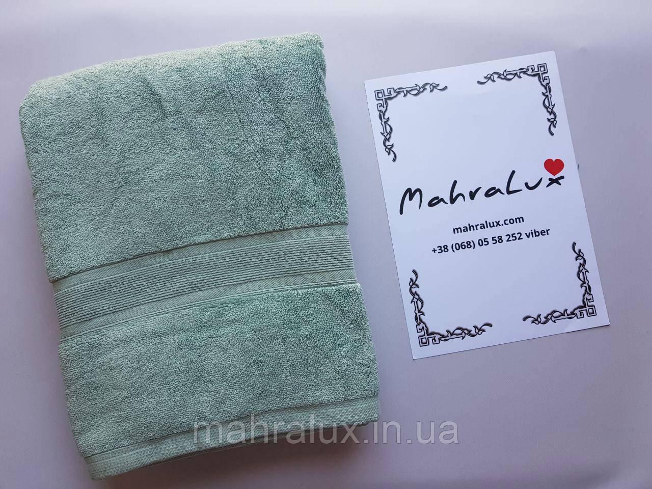 """Банное полотенце из светло-зелёного микрокоттона """"Мята"""""""