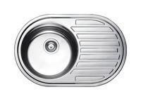 Врізна кухонна мийка з нержавіючої сталі PLATINUM 7750 Гермес Сатин 0.8 мм., фото 1