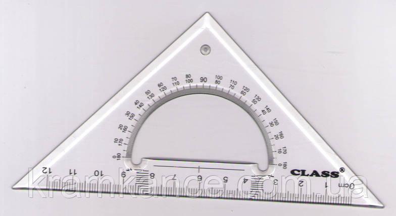Трикутник 45 град., 12см, Class 9025 (пластик), фото 2