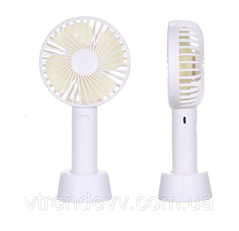 Вентилятор Qiufeng Cheng Fan apple на аккумуляторе и подсветкой
