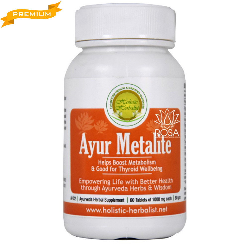 Аюр Металайт (Holistic Herbalist) - аюрведа премиум метаболические процессы, 60 таблеток
