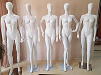 Манекен женский гипсовый (лаковый) белый