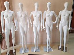 Манекен женский глянцевый-гипсовый (лаковый) белый