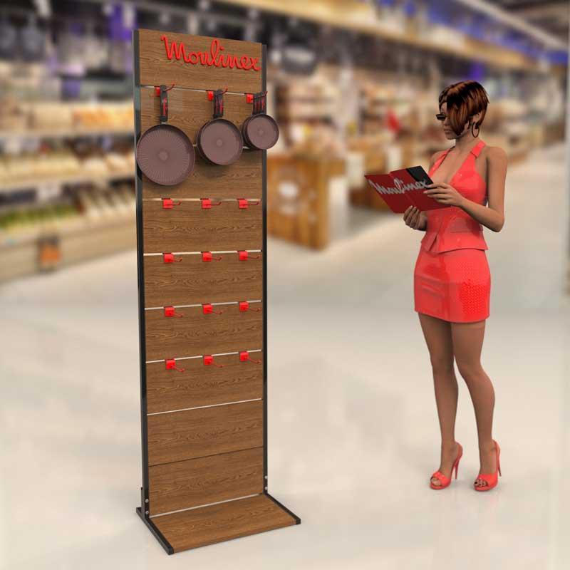 Торговые стенды экономпанели с крючками для Moulinex от производителя BENDVIS.