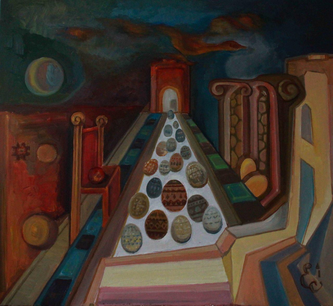 """Картина """"Сон. Писанкова трансмісія"""", картина маслом, картина на стіну"""