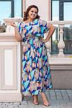 Летнее женское платье большого размера 52,54,56,58, фото 3