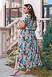 Летнее женское платье большого размера 52,54,56,58, фото 2