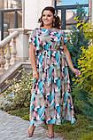 Летнее женское платье большого размера 52,54,56,58, фото 4