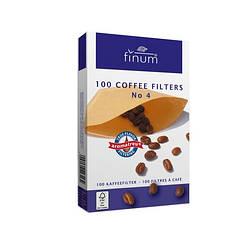 Фильтр бумажный №4 Finum (100шт) для капельной кофеварки FSC-C104593