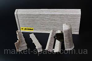 Плинтус Идеал Система. Цвет: Дуб Снежный №215, фото 2