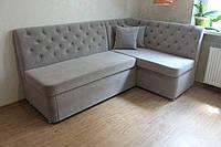 Угловой диван для кухни (Серый)