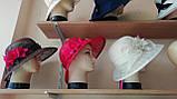 Шляпа  с полями 10 см из натуральной соломки синамей размер  55- 59 см, фото 8