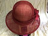 Шляпа  с полями 10 см из натуральной соломки синамей размер  55- 59 см, фото 4