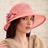 Шляпа с полями 10 см из натуральной соломки синамей размер 55-59 см, фото 3
