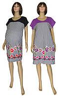 Платье летнее для беременных 0077 Damask Полоска коттон, р.р.48-62
