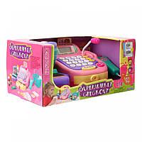 Игровой набор «Кассовый аппарат с микрофоном, розовый»