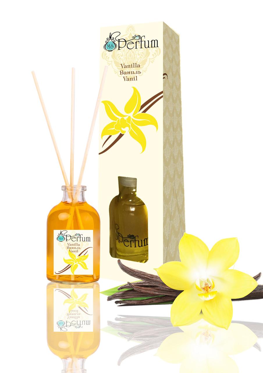 Аромат для дома офиса магазина ваниль 50 мл бамбуковый аромадиффузор нежный пудровый аромат