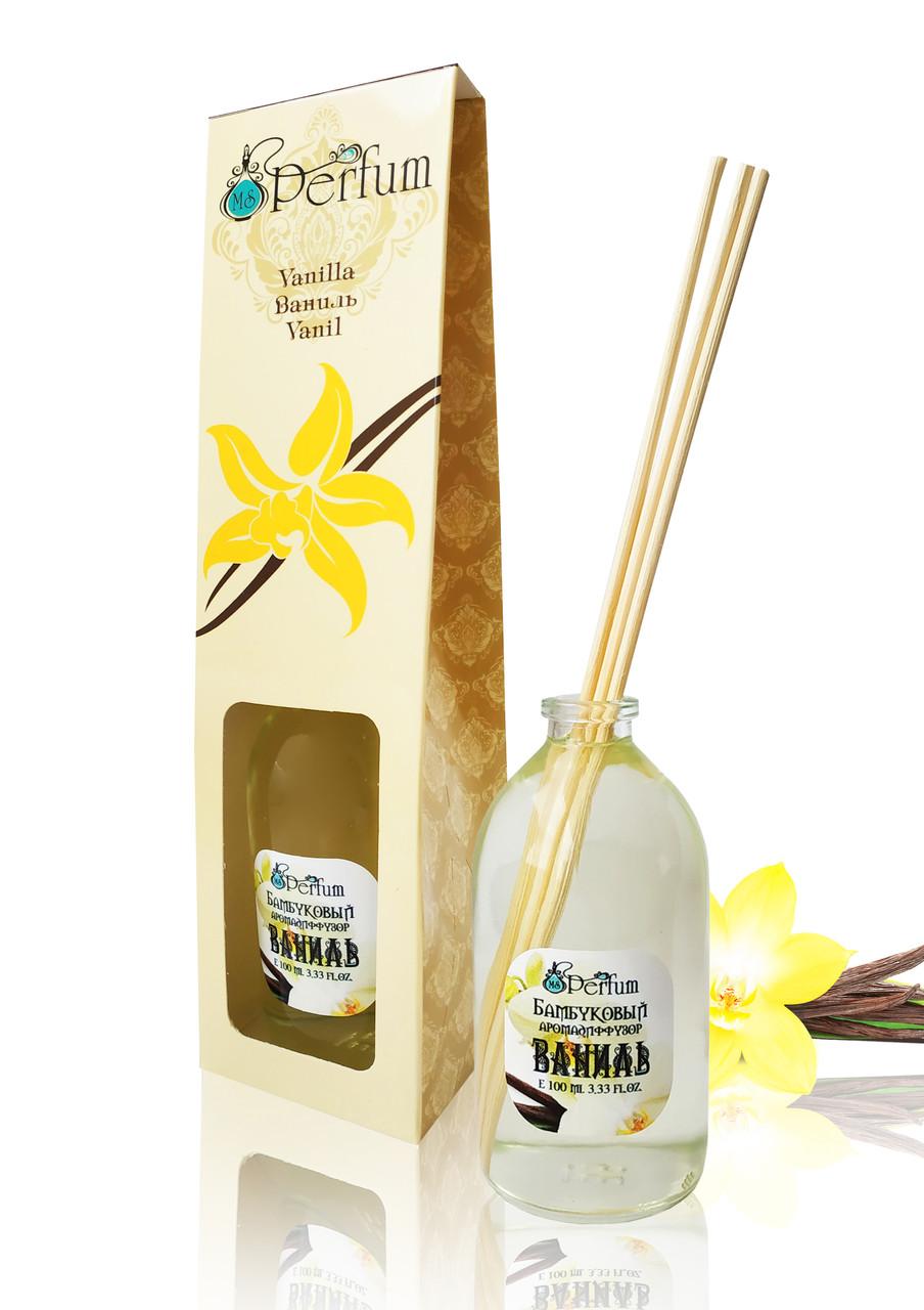 Аромат для дома офиса магазина ваниль 100 мл бамбуковый аромадиффузор нежный пудровый аромат
