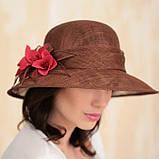 Шляпа с большими полями из натуральной соломки, фото 3
