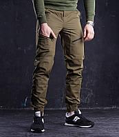 Мужские штаны Apache из хлопка удобные с карманами коричневые