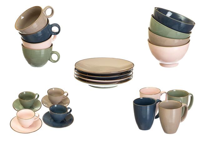 Столовая посуда цветная