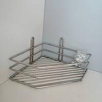 Полка нержавеющая сталь угловая 10*19,5*19,5см, фото 1