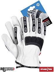 Кожаные перчатки  REIS  Польша  RMC-BAZIL WBS
