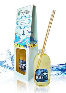 Аромат для дому офісу магазину океан 100 мл бамбуковий аромадиффузор океанська свіжість ніжний аромат