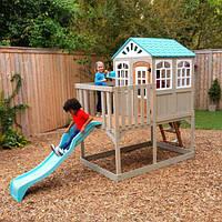Деревянный детский домикс горкойHighline Retreat KidKraft F29060EF. Домик для детей
