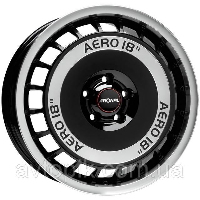 Литые диски Ronal R50 R16 W7.5 PCD5x100 ET38 DIA76 (black front diamond cut)