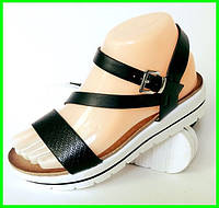 Женские Сандалии Босоножки Летняя Обувь на Танкетке Платформа (размеры: 36,37,38,39,40,41)