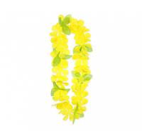 Леи гавайские Желтые с листочками 11641