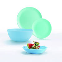 Столовый сервиз 19 пр. Luminarc Diwali Light Turquoise and Blue, сервиз Люминарк, набор тарелок