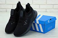 Кроссовки Adidas Alphabounce мужские, в стиле Адидас Альфабонус, текстиль, код KD-11862. Черные