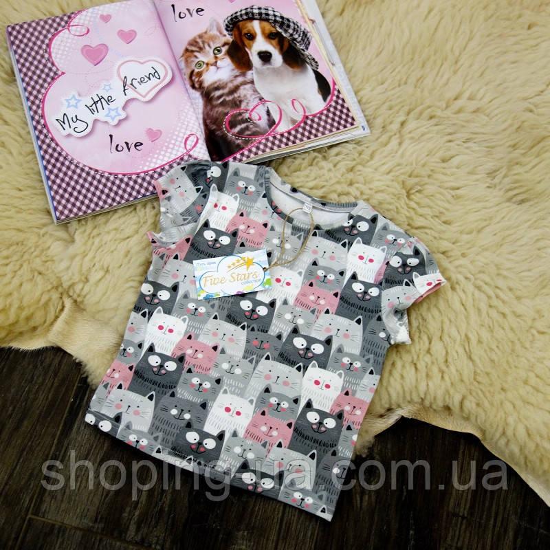 Детская футболка котики Five Stars KD0251-134p