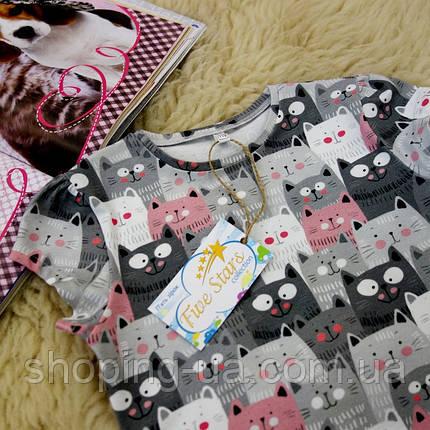 Детская футболка котики Five Stars KD0251-134p, фото 2