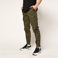 Хлопковые мужские штаны Symbiote с манжетом цвета хаки
