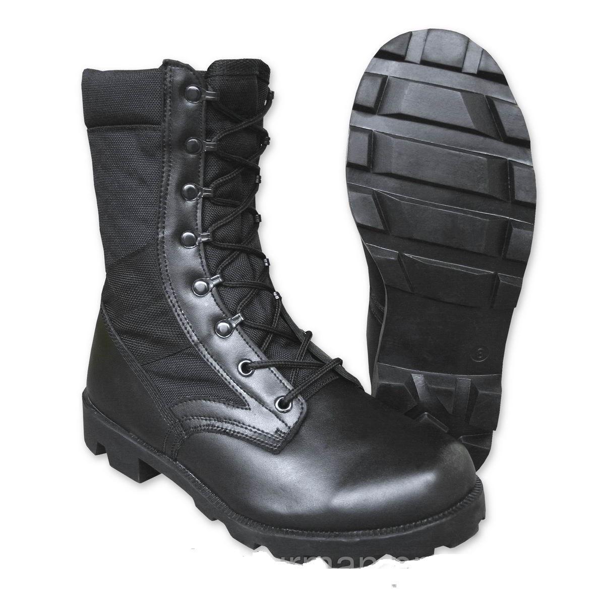 Летние армейские ботинки, берцы MilTec JUNGLE Cordura Black 12825002 4
