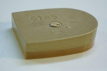 Каблук женский пластиковый  0105 р.1-3  h-1.0-1.2 см,цвет золото, фото 2