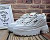 ✅ Женские кожаные кроссовки Fila Disruptor 2 White Фила Дисраптор белые кроссовки на платформе - Фото