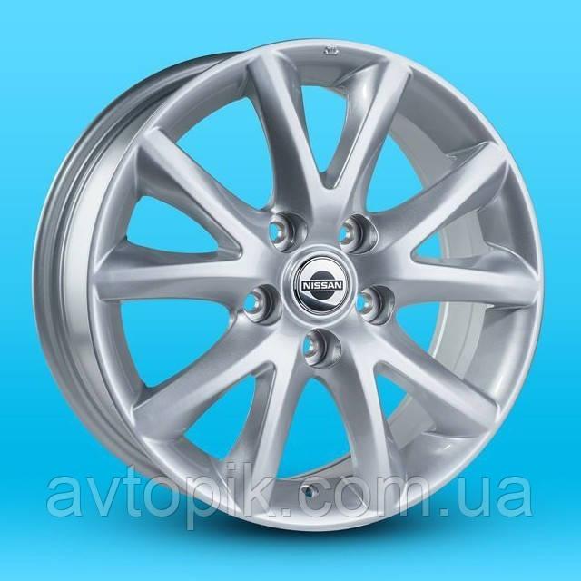 Литые диски Replica Nissan (JH1169) R16 W6.5 PCD5x114.3 ET40 DIA66.1 (silver)