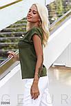 Женская футболка с брошью цвета хаки, фото 2