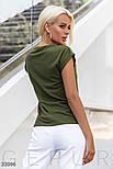 Женская футболка с брошью цвета хаки, фото 3