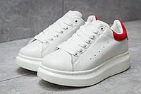 Кроссовки женские Alexander McQueen Oversized Sneakers, белые (14752) размеры в наличии ► [  40 (последняя пара)  ] (реплика)(реплика)