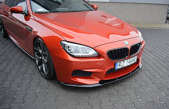 Спліттер BMW M6 F06 елерон тюнінг переднього бампера (V1)