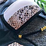 Купальник жіночий роздільний зі зміїним принтом, розмір S, фото 10