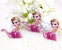 """(5 шт) Кабошон Планер """"Принцесса Эльза"""" 38х36 мм, акрил (Цена за 5шт) Цвет на фото"""