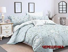 Двуспальный набор постельного белья 180*220 из Сатина №655AB Черешенка™