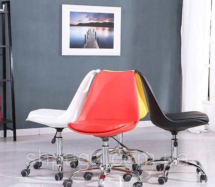 Кресло  Астер, пластик , сиденье с подушкой -  желтый.