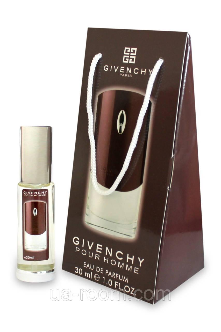Мини-парфюм в подарочной упаковке Givenchy pour homme, 30 мл.